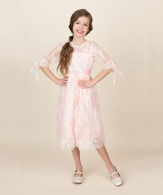 Make sure your little one is party-ready in this adorable dress flaunting charming lace and a flowing skirt for twirling fun. Includes dress and cotton / polyesterHand wash; Toddler Girl Dresses, Toddler Girls, Baby Girl Princess, Princess Outfits, Tween Fashion, Pink Lace, Cute Dresses, Lace Dress, Couture