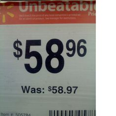 this makes me laugh. I have found things on the clearance aisle the SAME price as they used to be!!