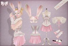 Pretty Bunny Costume Set by BowtiqueSL, via Flickr