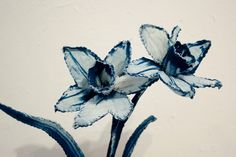 Daffodil Growing Through Glass by CyanotypeSculptures on Etsy, $200.00