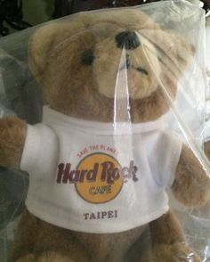 Teddy from #HardRock #Cafe #Taipei #memorabilia circa 1997 #travel #tourism #weekinthelife  #inspiration #entrepreneur #inspire #passion #life #health #business #startup #motivation