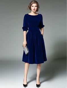 Simply Stunning Vintage Style Midi Dress