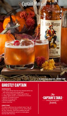 Beckon extraordinary flavor from another world with this delicious Halloween cocktail recipe blending sweet tea, tart cranberry and a surprise twist of freshness. #rum #thecaptainstable