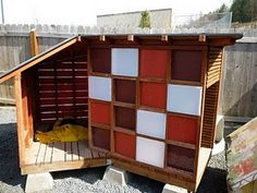 this is one of many cute dog houses built for a no kill shelter in ID humansocietyofpal....