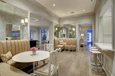 Love the two kitchen banquettes #kitchen #banquette