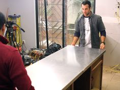 How to install a stainless steel countertop.