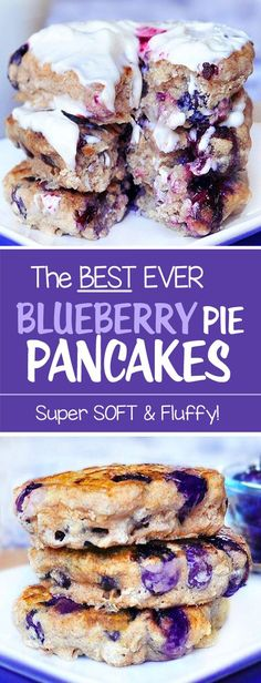 There is ONE big secret to making the fluffiest pancakes ever. These blueberry pancakes use baking powder and no egg!