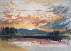 JMW Turner (1775-1851) Sunset over Petworth Park, Sussex, c.1828