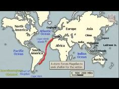 MAGELLAN'S VOYAGE HISTORY, ANIMATION ON A MAP
