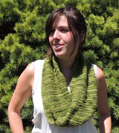 Cowl, Scarf, Multi Green, Accessory, Woman, Knit Scarf,Handmade - pinned by pin4etsy.com