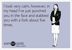 This is what I feel like waitressing sometimes..
