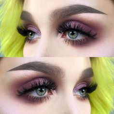 "468 Likes, 9 Comments - @helenesjostedt on Instagram: ""Eyes without a face I used @shophudabeauty @hudabeauty Eyeshadows amethyst and twilight from…"""