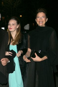 Annette Bening attended the famous Le Bal event for debutantes with her and Warren Beatty's daughter, Isabel Beatty, in Paris on Saturday.