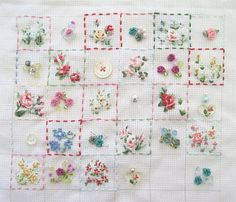 tinkered treasures: April 2010 Embroidery Applique, Cross Stitch Embroidery, Tiny Gifts, Thread Art, Craft Activities, Hand Stitching, Needlepoint, Needlework, Arts And Crafts