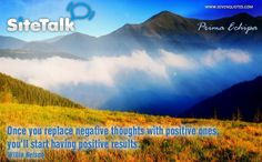 """Motivational Quote of the Day """"Once you replace negative thoughts with positive ones, you'll start having positive results. Psalm 119, Psalms, Negative Thoughts, Positive Thoughts, True Happiness, Typography Quotes, Motivational Posters, Positive Affirmations, Law Of Attraction"""