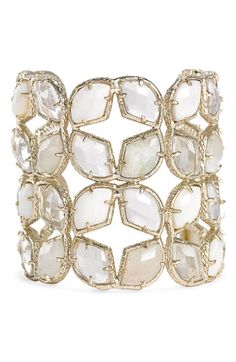 Kendra Scott Stone Cuff in White Lilly at Nordstrom. Beautiful!