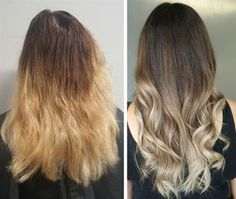 Balayage color correction from Behind The Chair - Articles