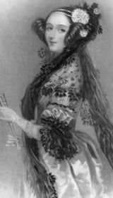Ada Lovelace, from a drawing by Alfred Edward Chalon RA