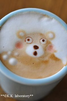 Bear Cafe Cappuccino Art →follow← my board ♡ͦ* ¢σffєє σвѕєѕѕє∂ ♡ͦ* @ ★☆Danielle ✶ Beasy☆★