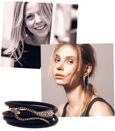 Elika Rose Gold Pavé Bracelet
