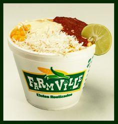 Delicioso Elote (amarillo o blanco) y puedes elegir entre salsa de Habanero, Chimichurri, Chipotle, Bufalo, Tradicional y Ranch!