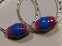 Ohrringe weiß-lila-blau