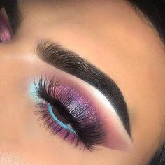 Gorgeous Makeup: Tips and Tricks With Eye Makeup and Eyeshadow – Makeup Design Ideas Beautiful Eye Makeup, Cute Makeup, Glam Makeup, Pretty Makeup, Makeup Inspo, Makeup Art, Makeup Inspiration, Beauty Makeup, Hair Makeup