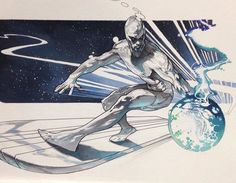 Silver Surfer by Simone Bianchi #silversurfer #marvel #marvelcharacters
