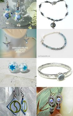 Blue Bling by Sally Grayson on Etsy--Pinned with TreasuryPin.com