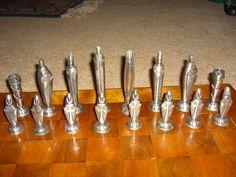 The most stunning mid century chess set yet!