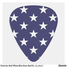 Guitar Design, Old Glory, Guitar Picks, Triangle Shape, Red White Blue, Artwork Design, Flag, Stripes, Stars