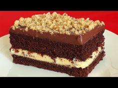 PRAJITURA RICHARD CU NUCA - YouTube Yami Yami, Cake Videos, Something Sweet, Cake Recipes, Biscuits, Cheesecake, Food And Drink, Cooking Recipes, Sweets