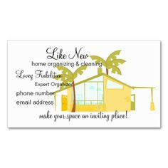 Whimsical house cleaning services business cards holiday business new home in the palms appointment card colourmoves