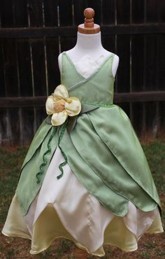 Green Princess Dress Inspired by Tiana