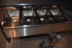 Four sinks on a TD 24 model cart - TopDogCarts.com