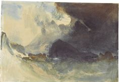 J.M.W. Turner,The Mewstone, Devon - Watercolour, heightened with touches of white; the verso with a faint pencil sketch of Barden Tower, North Yorkshire.