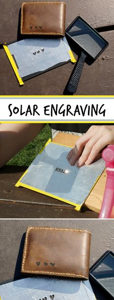 Learn to focus the energy of the sun into a concentrated beam capable of engraving cardboard, leather, cork, wood, and other organic materials. #solarproject #solarclass