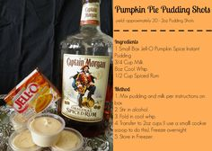 Pumpkin Pie Pudding Shots