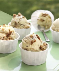 Brown sugar and candied nuts give this butter pecan ice cream its mellow caramel goodness. Recipe: Butter Pecan Ice Cream
