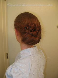 gibson girl from Rapunzel's Resource- great long hair hairstyles and she even has red hair!!!