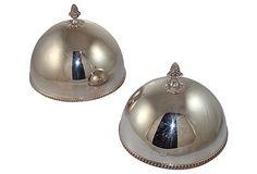 BUTLER'S PANTRY – Silverplate Cloches, Pair on OneKingsLane.com