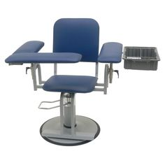 "TK Manufacturing Hydraulic Height Adjustable 350 Lb Capacity Blood Drawing (Phlebotomy) Chair, Seat Adjusts From 20"" To 27"", Fully Upholstered Chair With Side Tray Dark Blue TK Manufacturing http://www.amazon.com/dp/B00B9GPC7U/ref=cm_sw_r_pi_dp_5BBYub0RB50FF"
