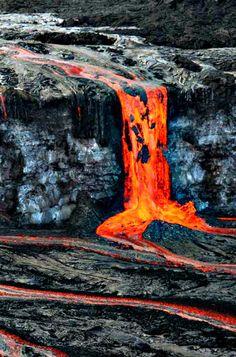 Some lovely Hawaiian flow. Kilauea volcano, on Hawaii's Big Island.