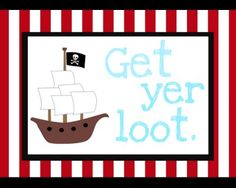 Tattered and Inked: Complete Set of Pirate Printables