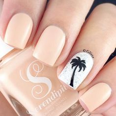 The most popular nail design in hot summer is palm tree nail art design. We just need to know that it's never wrong to use Palm Tree nail art designs in summer. Manicure, Diy Nails, Summer Acrylic Nails, Summer Nails, Spring Nails, Palm Tree Nail Art, Nails With Palm Trees, Palm Nails, Tropical Nail Designs