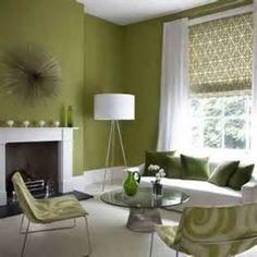 Color Study: Green walls & white trim.