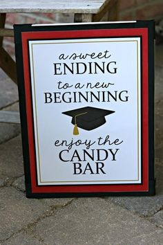 graduation candy buffet candy bar sign grad candy bar graduation food labels graduation supplies class of 2019 red and black Graduation Party Planning, Graduation Party Themes, 8th Grade Graduation, College Graduation Parties, Graduation Celebration, Graduation Decorations, Graduation Gifts, Grad Parties, Graduation Party Centerpieces