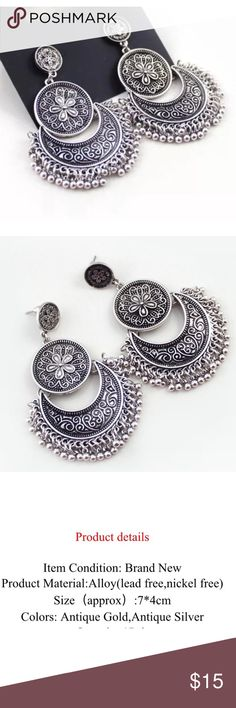 New✨ Boho Tassel Silver Earrings ✨ ✨ Fashion Jewelry    Brand New✨ PRICE IS FIRM- already listed at lowest price  If you want to save please look into bundling  In Stock No Trades Will ship same day as long as order is received by 1:00pm PST Please -NO- Offers on items priced $10 and under AND ON SALE ITEMS‼️ Serious Inquiries Only❣️  Bundle one or more items from my boutique to only pay 1 shipping fee and SAVE Money❣️ Jewelry Earrings