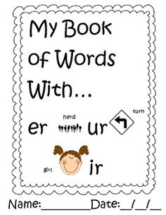 Please rate this product:)This is a book students will work on through the week practicing r controlled words.  You can do 2 pages a day as seat work.1 page er words 3 times each with a sentence at the bottom1 writing page: How do you get rid of gERms?1 page ir words 3 times each with a sentence at the bottom1 writing page: Describe your favorite shIRt.1 page ur words 3 times each with a sentence at the bottom1 writing page: Draw a picture of you sURfing.1 cover page to staple the book…