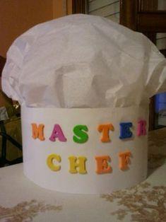 Jugando con Duendes y Hadas: Gorro de chef Baking Birthday Parties, Baking Party, K Crafts, Crafts For Kids, Activities For Kids, Preschool Jobs, Preschool Crafts, Kindergarten, Master Chef